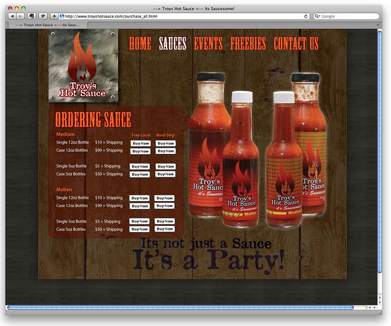 Troy's Hot Sauce Website-2